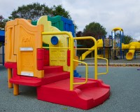 Photo of playground equipment at Daybridge Child Development Center